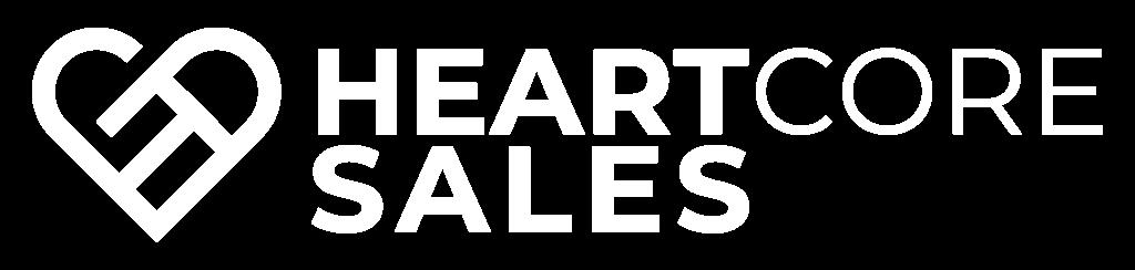 Logo Heartcoresales weiß